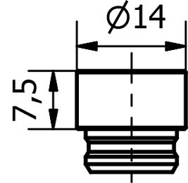 Propojka krytek  RS 55mm