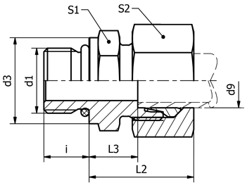 PHK-UNF 16S 3/4(18216030424)