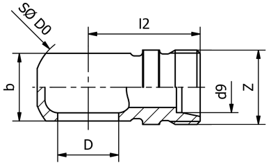 Oko st.příp.OK D8/M10x1 Tr05(74741405)