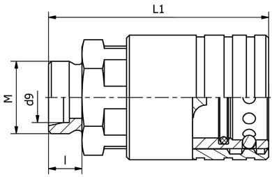 Zásuv.ISO-20 M30x2,24 na hadici(461030224)